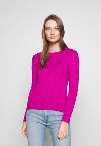 Polo Ralph Lauren - JULIANNA CLASSIC LONG SLEEVE - Jumper - accent pink - 0