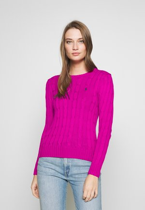 JULIANNA CLASSIC LONG SLEEVE - Sweter - accent pink