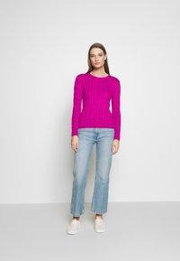 Polo Ralph Lauren - JULIANNA CLASSIC LONG SLEEVE - Jumper - accent pink - 1
