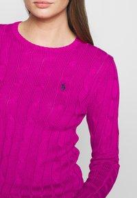 Polo Ralph Lauren - JULIANNA CLASSIC LONG SLEEVE - Jumper - accent pink - 5