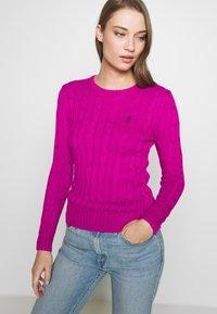 Polo Ralph Lauren - JULIANNA CLASSIC LONG SLEEVE - Jumper - accent pink - 3