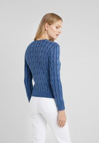 Polo Ralph Lauren - JULIANNA CLASSIC LONG SLEEVE - Stickad tröja - dark blue - 2