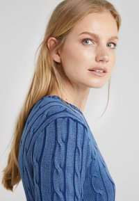 Polo Ralph Lauren - JULIANNA CLASSIC LONG SLEEVE - Stickad tröja - dark blue - 3