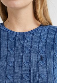 Polo Ralph Lauren - JULIANNA CLASSIC LONG SLEEVE - Stickad tröja - dark blue - 5
