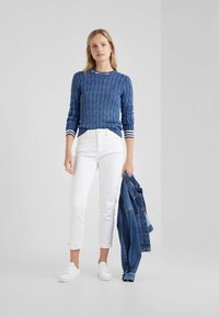 Polo Ralph Lauren - JULIANNA CLASSIC LONG SLEEVE - Stickad tröja - dark blue - 1