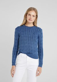 Polo Ralph Lauren - JULIANNA CLASSIC LONG SLEEVE - Stickad tröja - dark blue - 0