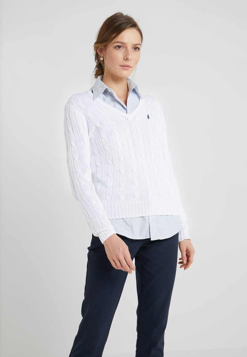 Polo Ralph Lauren - KIMBERLY - Sweter - white