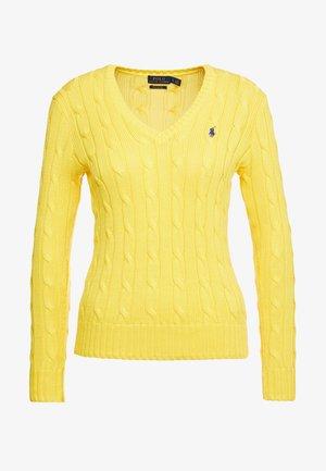 KIMBERLY - Strikkegenser - trainer yellow