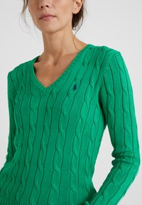 Polo Ralph Lauren - KIMBERLY - Sweter - stem green - 4