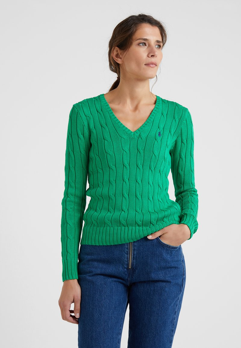 Polo Ralph Lauren - KIMBERLY - Sweter - stem green