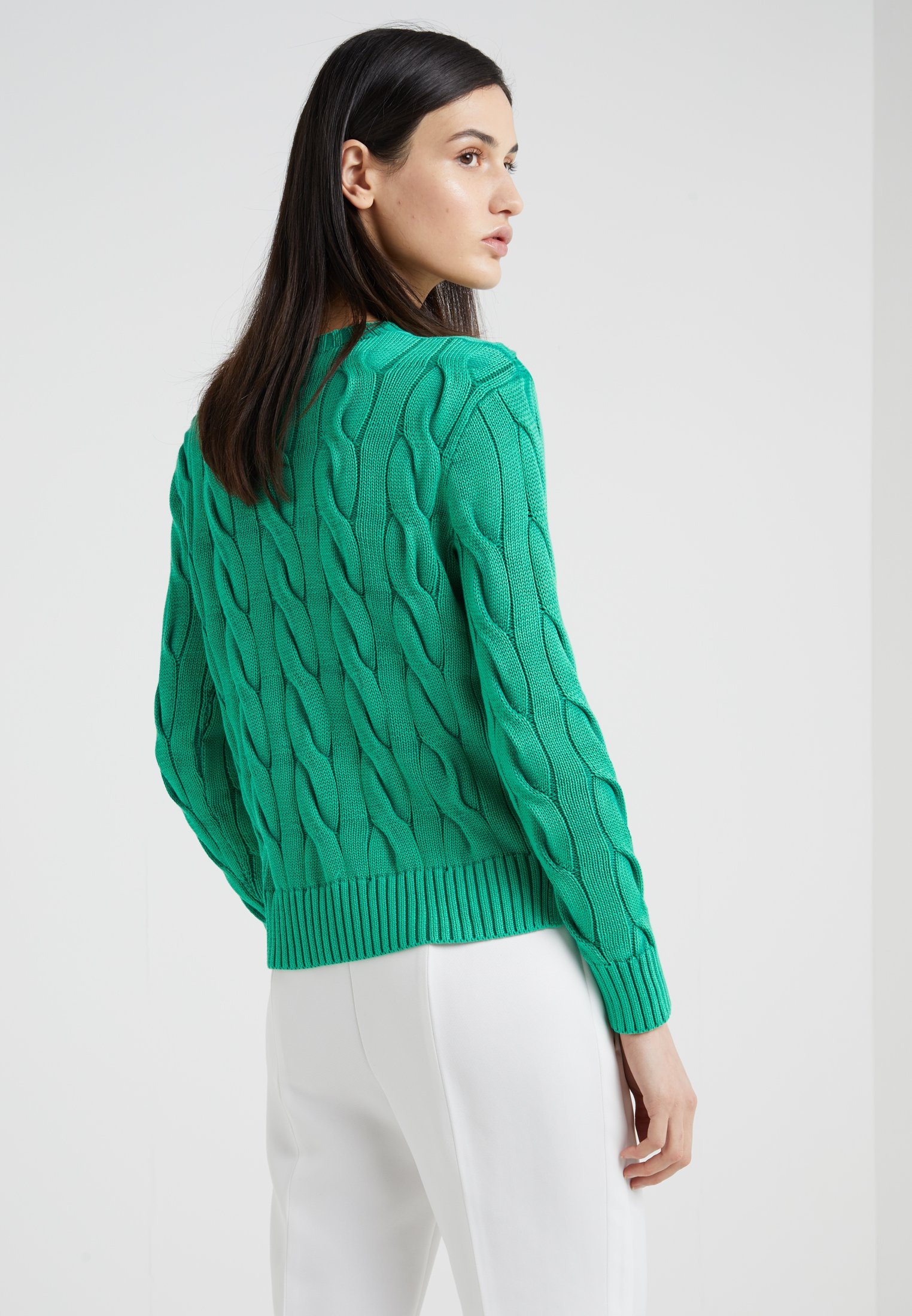 Polo Ralph Lauren CABLE - Pullover washed green