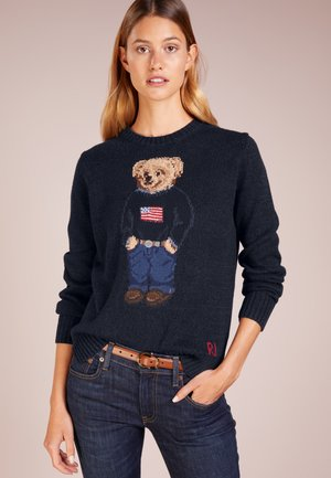 Sweter - navy multi
