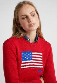 Polo Ralph Lauren - FLAG - Strickpullover - red/multi - 4