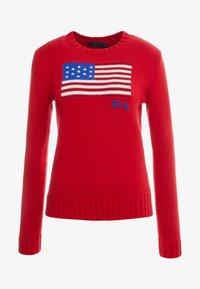 Polo Ralph Lauren - FLAG - Strickpullover - red/multi - 3
