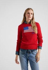 Polo Ralph Lauren - FLAG - Strickpullover - red/multi - 0