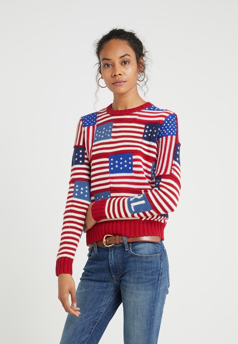 Polo Ralph Lauren - NOVELTY FLAG - Strikpullover /Striktrøjer - multi