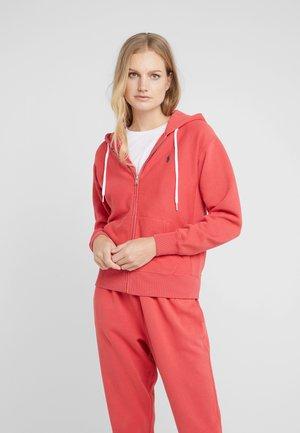 SEASONAL - veste en sweat zippée - spring red