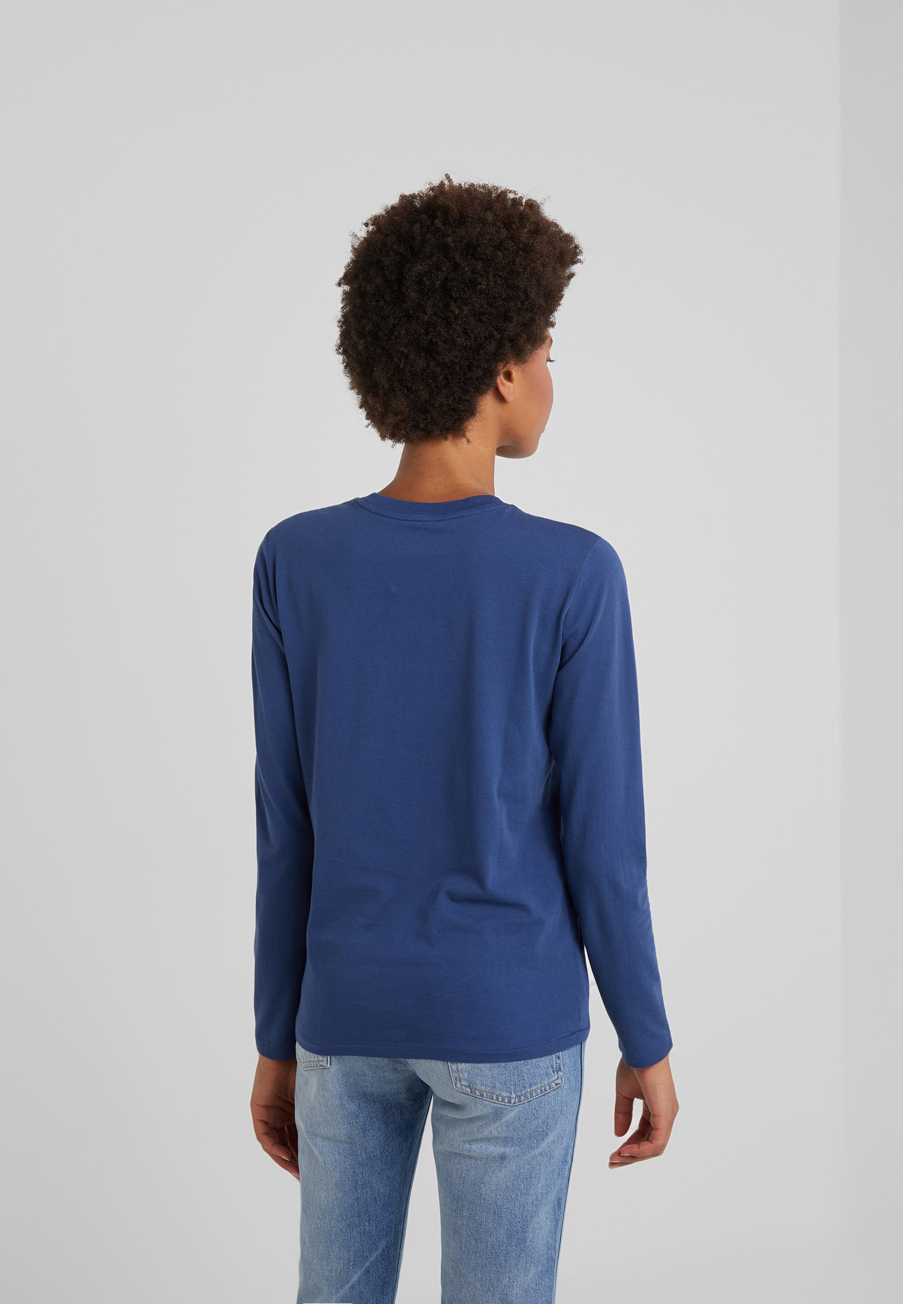 longues à manches rustic navy Lauren Polo Ralph T shirt Y6bf7gy