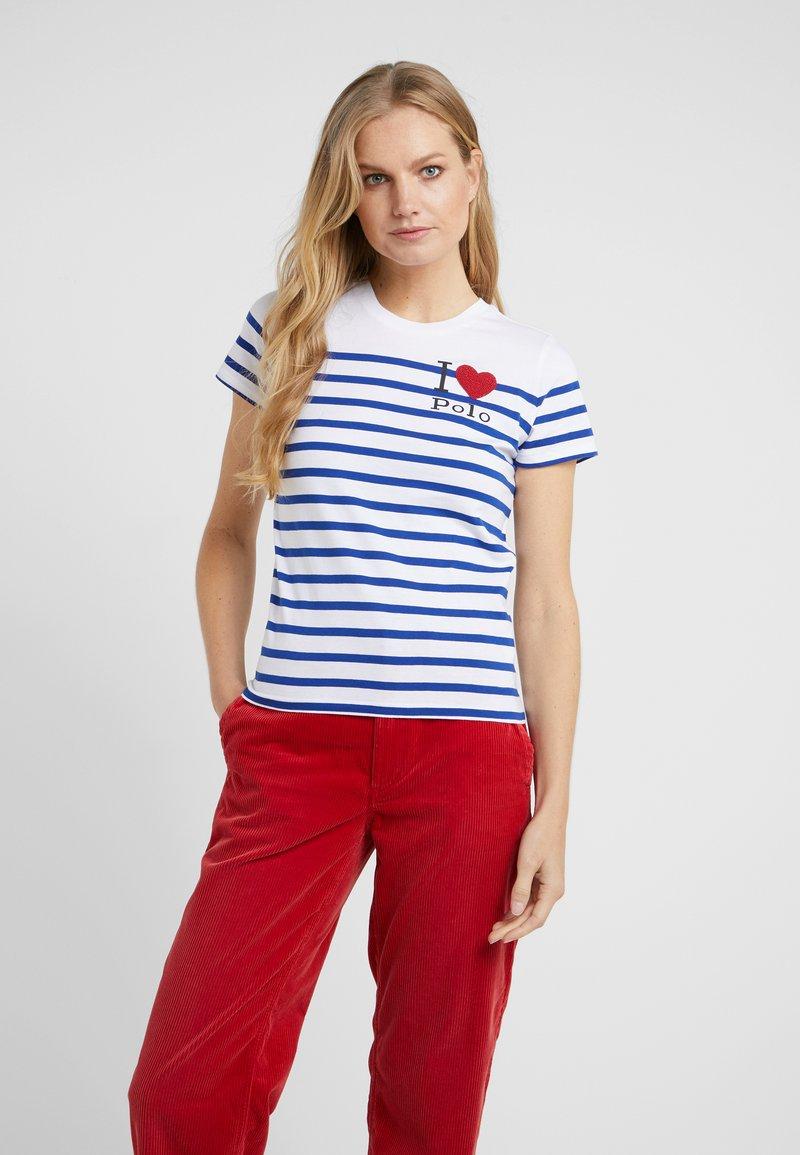 Polo Ralph Lauren - Print T-shirt - white/sistine blu