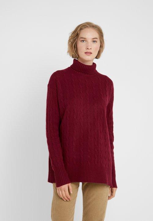Polo Ralph Lauren BLEND - Sweter - burgundy Odzież Damska ODPF-TF2 trwałe modelowanie