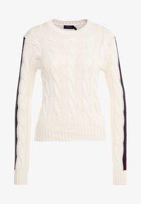 Polo Ralph Lauren - OVERSIZED CABLE - Maglione - cream/multi - 4