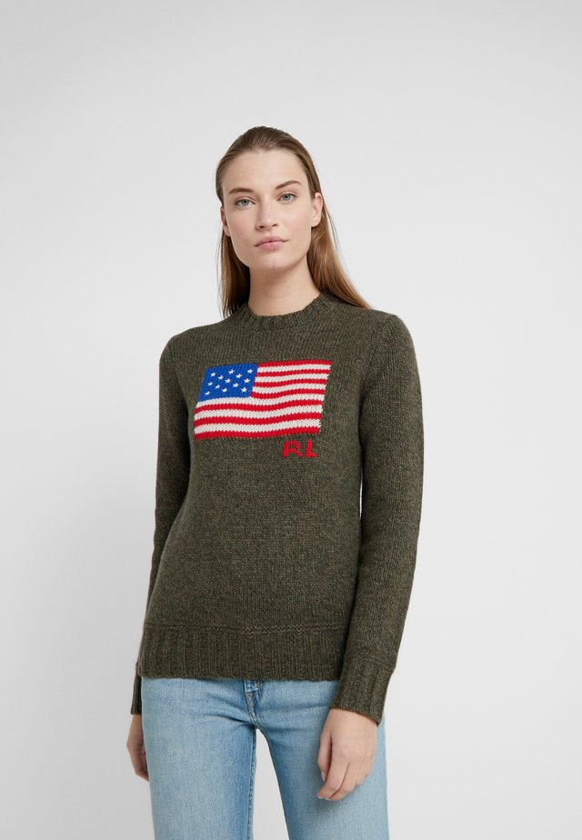 LONG SLEEVE - Trui - olive