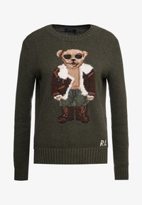 Polo Ralph Lauren - AVIATOR BEAR - Trui - olive multi - 3