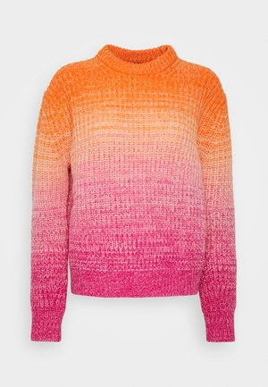 OMBRE LONG SLEEVE - Strickpullover - pink/orange multi