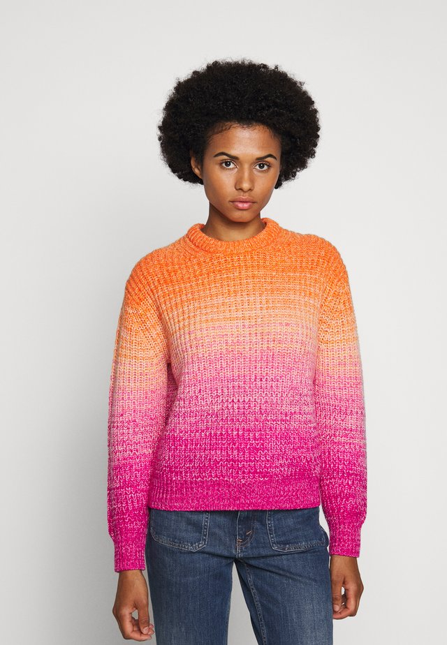 OMBRE LONG SLEEVE - Jersey de punto - pink/orange multi