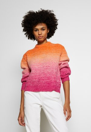 OMBRE LONG SLEEVE - Jumper - pink/orange multi