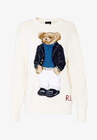 Polo Ralph Lauren - YACHT BEAR LONG SLEEVE  - Sweter - cream/multi - 4