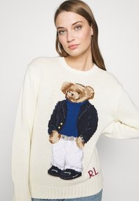 Polo Ralph Lauren - YACHT BEAR LONG SLEEVE  - Sweter - cream/multi - 5
