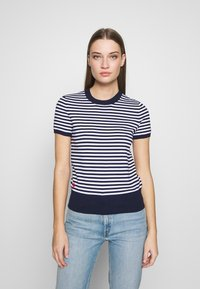 Polo Ralph Lauren - STRIPE SHORT SLEEVE - T-shirt con stampa - bright navy/white - 0