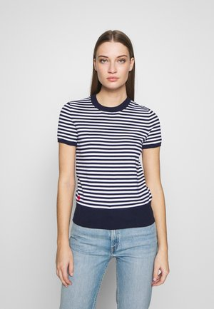 STRIPE SHORT SLEEVE - T-shirt con stampa - bright navy/white