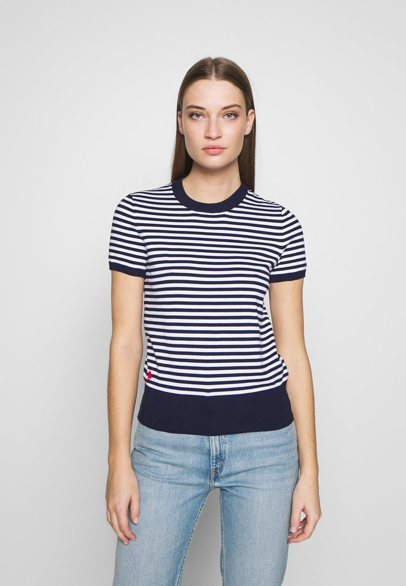 Polo Ralph Lauren - STRIPE SHORT SLEEVE - T-shirt con stampa - bright navy/white