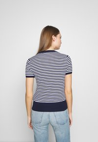 Polo Ralph Lauren - STRIPE SHORT SLEEVE - T-shirt con stampa - bright navy/white - 2