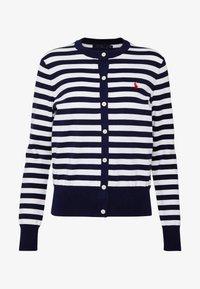 Polo Ralph Lauren - STRIPE LONG SLEEVE - Cardigan - bright navy/white - 4