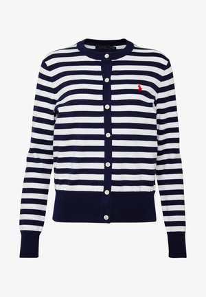STRIPE LONG SLEEVE - Chaqueta de punto - bright navy/white