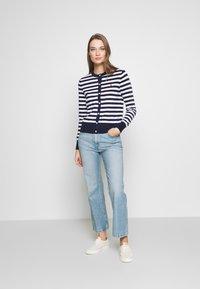 Polo Ralph Lauren - STRIPE LONG SLEEVE - Gilet - bright navy/white - 1