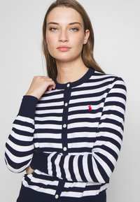 Polo Ralph Lauren - STRIPE LONG SLEEVE - Cardigan - bright navy/white - 3