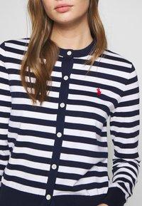 Polo Ralph Lauren - STRIPE LONG SLEEVE - Cardigan - bright navy/white - 5