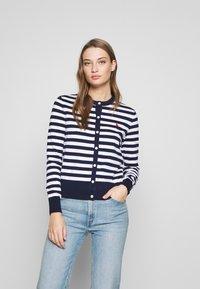 Polo Ralph Lauren - STRIPE LONG SLEEVE - Cardigan - bright navy/white - 0