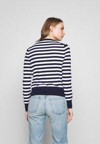 Polo Ralph Lauren - STRIPE LONG SLEEVE - Cardigan - bright navy/white - 2