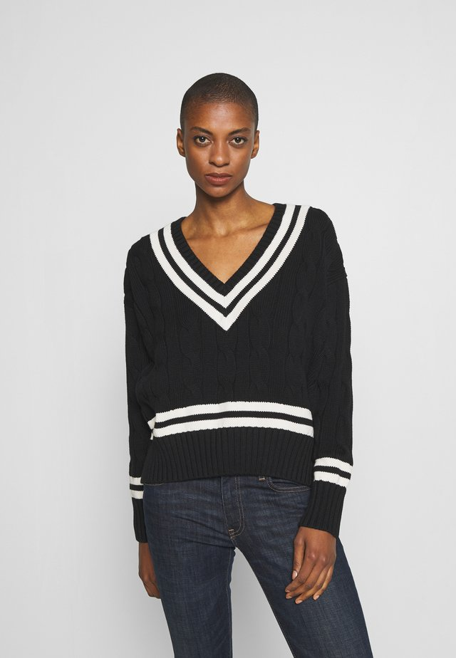 Sweter - black/cream