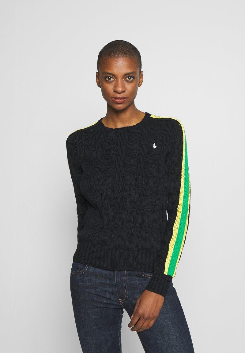 Polo Ralph Lauren - OVERSIZED CABLE - Sweter - black multi