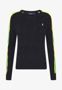 Polo Ralph Lauren - OVERSIZED CABLE - Sweter - black multi - 4