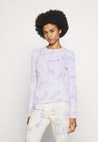Polo Ralph Lauren - LONG SLEEVE - Sweter - pastel paintsplat - 0