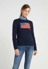 Polo Ralph Lauren - LONG SLEEVE - Maglione - hunter navy - 0