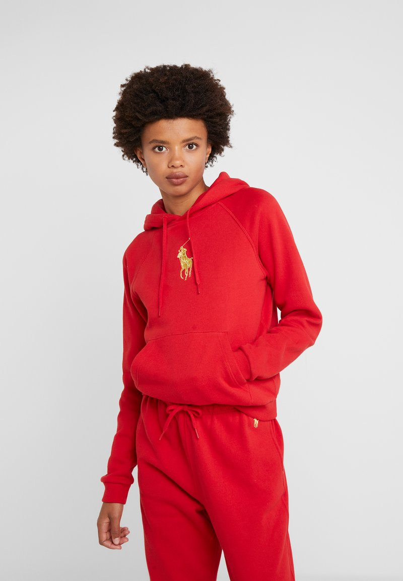 Polo Ralph Lauren - SEASONAL - Mikina s kapucí -  red