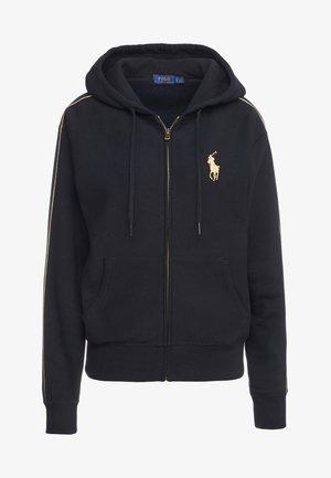 SEASONAL - veste en sweat zippée - black